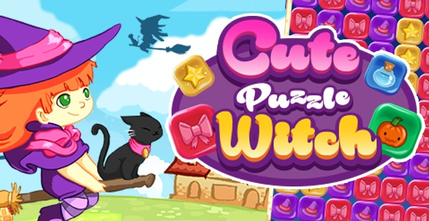 Spielen Cute Puzzle Witch